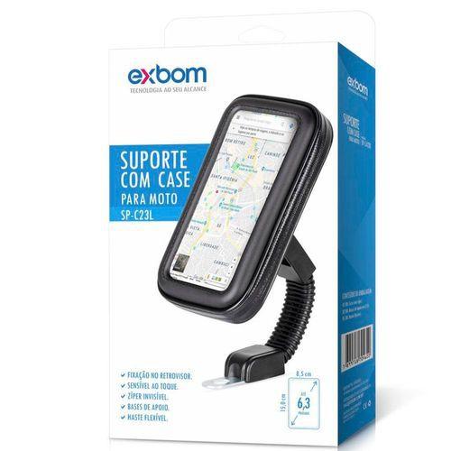 Suporte de Smartphone para Motos 6.3 polegadas - Exbom - SP-C23L