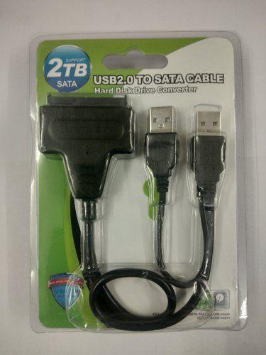 USB 2.0 a 7 + 15 pinos 22Pin Adaptador Conversor de Cabo de Dados SATA com Caixa para HDD de 2,5 / 3,5 polegadas de Disco Rígido (Preto)