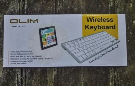Teclado Wirelless Keyboard Olim - Tablet, Celular, Win, Mac