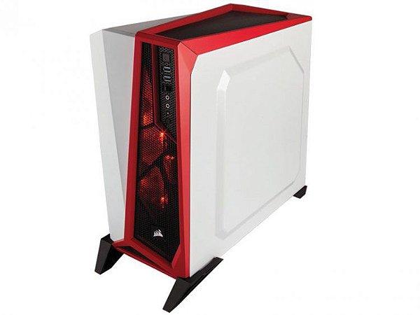 Gabinete Gamer Corsair Branco E Vermelho Cc-9011083-ww