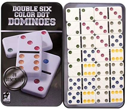 Jogo de Domino na Lata - Caixa de Metal Super Luxo - Domino Osso