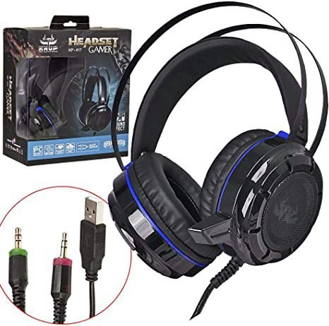 Jogador de fone de ouvido Bass Vibration KP-417 7.1 Efeito de som