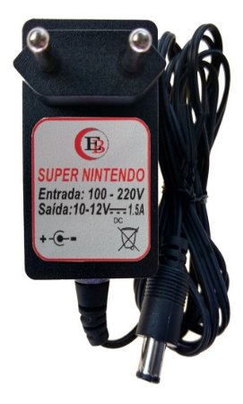 Fonte 10v Super Nintendo - Fat E Baby