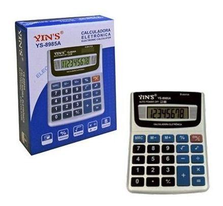 Calculadora Eletronica 8 Digitos 13x10cm