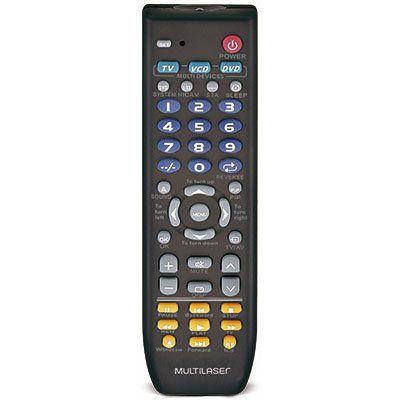 Controle remoto universal até 3 aparelhos AC088 Multilaser BT 1 UN