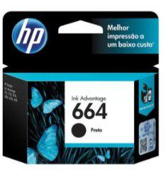 Cartucho de Tinta HP 664 Preto - Ink Advantage