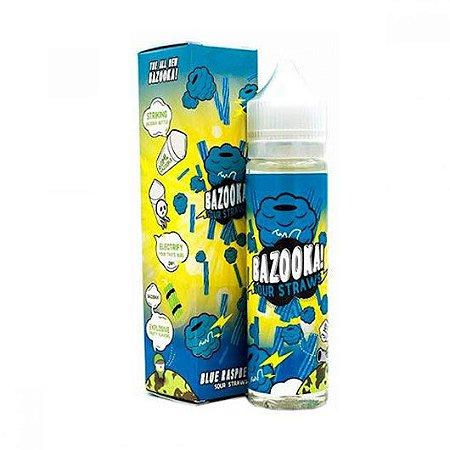 Líquido Bazooka Sour Straws - Blue Raspberry