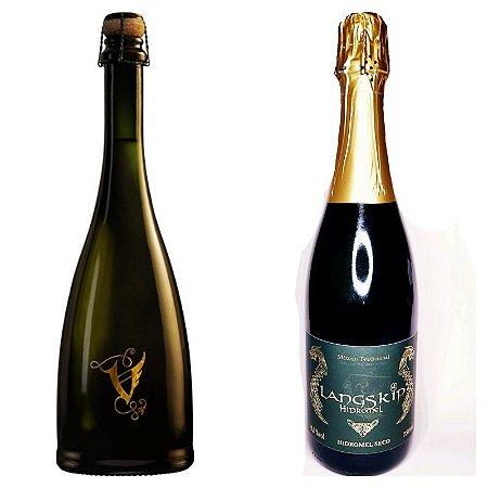 Kit hidroméis espumantes champenoise - 2 garrafas