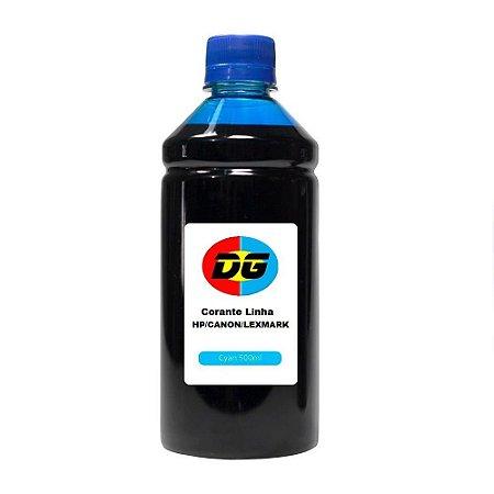 Tinta Universal Para Cartuchos Hp Corante Canon Lexmark Cyan 500 ml