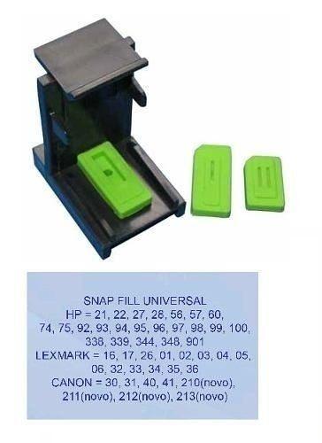 Snap Fill Universal Para Cartuchos Jato de Tinta Hp Canon Lexmark