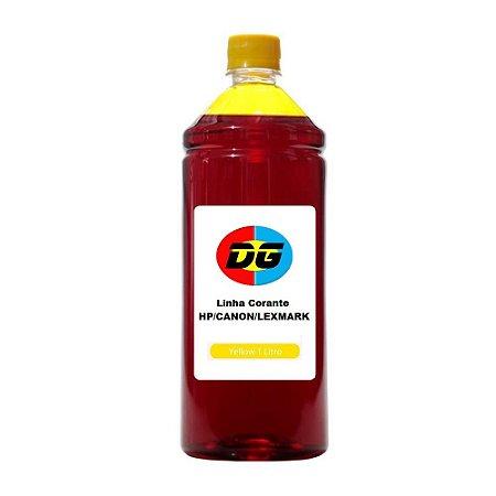 Tinta Universal Para Cartuchos Jato de Tinta Hp Canon Lexmark Yellow 1 Litro