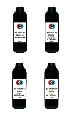 Pó Toner Hp Cb540a-Cb541a-Cb542a-Cb543a 1kg