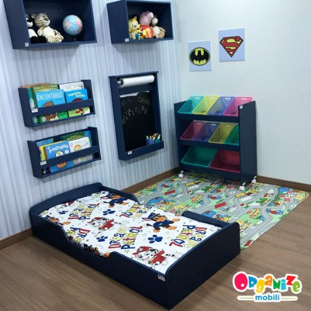 Mini cama mobili kids na cor azul + colchão D18