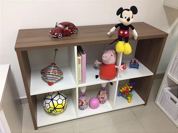 Rack Organizador de brinquedos com 6 divisões