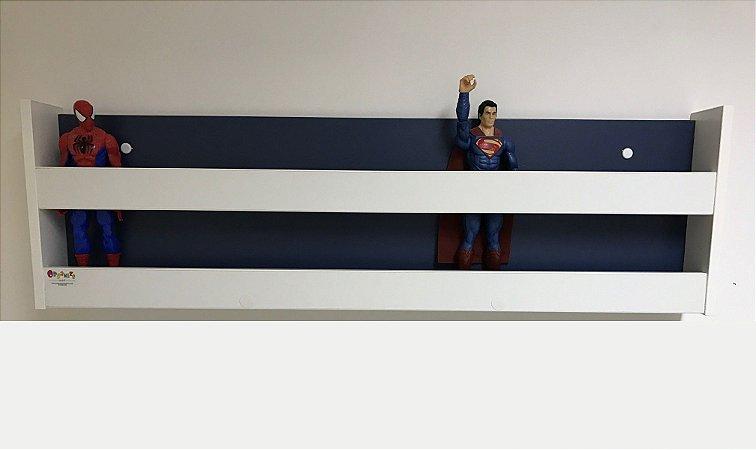 Organizador de bonecos e bonecas com fundo azul 1,00m larg