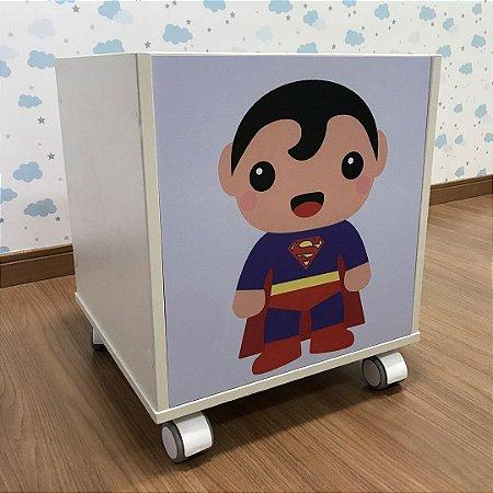Baú organizador de brinquedos tema Super Homem