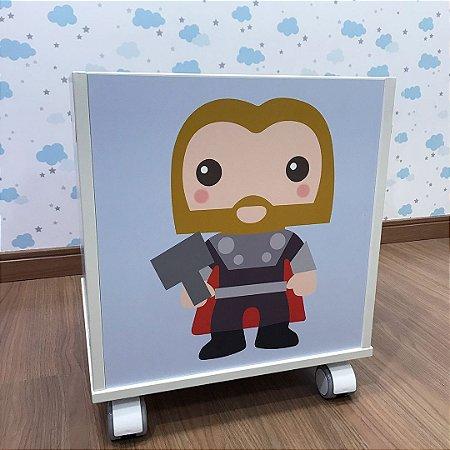 Baú organizador de brinquedos tema Thor