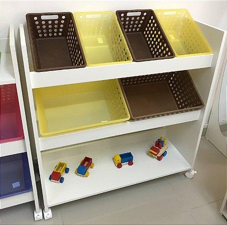 Organizador de Brinquedos Prateleira Inferior 2p2p.eco1g1g.eco