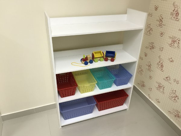 Organizador de brinquedos 4 prateleiras - 4CXP 2CXG