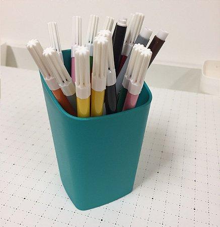 Porta lápis verde