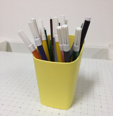 Porta lápis amarelo