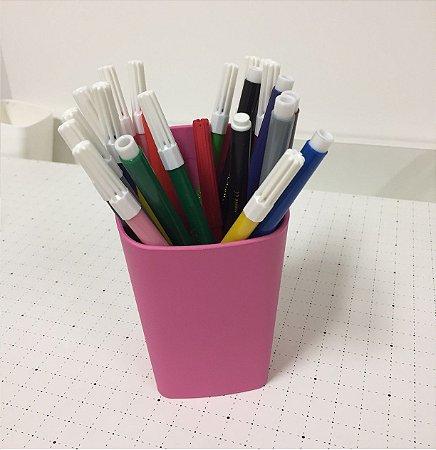 Porta lápis rosa