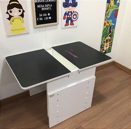 Mesa dupla infantil com regulagem de altura - mesa para duas crianças - mesa para criança