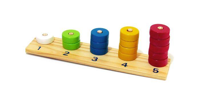 Abacus de 1 a 5 redondo