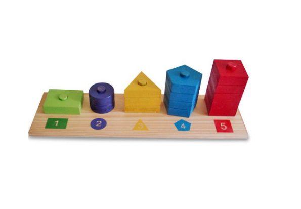 Abacus geométrico de 1 a 5