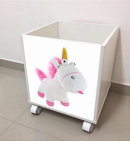 Baú organizador de brinquedos Unicórnio da Agnes