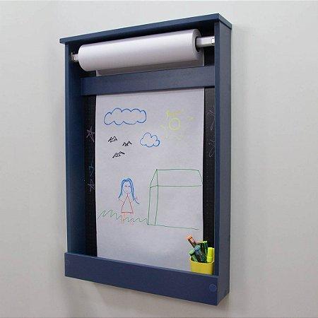 Painel Criativo Pequeno azul FUNDO BLACK DOTS