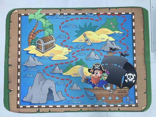 Tapete mapa do pirata - Medida 0,95 x 1,30