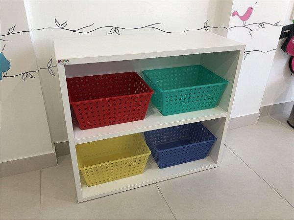 Móvel organizador com caixas em popropileno