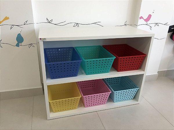 Móvel organizador grande com caixas em polipropileno
