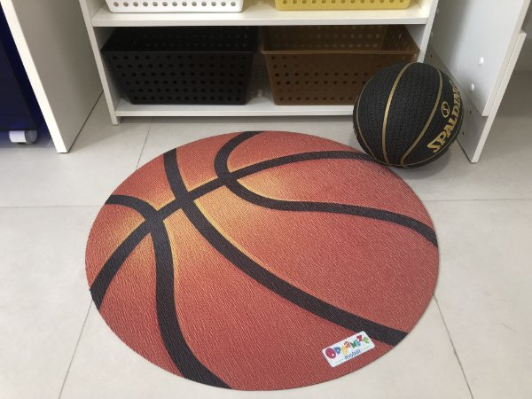 Tapete bola de basquete
