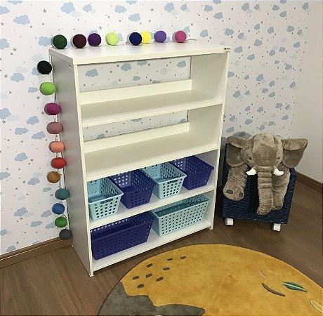 Organizador de brinquedos 5 prateleiras com caixas 4CXP 2CXG
