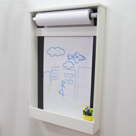 Painel Criativo Pequeno fundo blackdots com um rolo de papel
