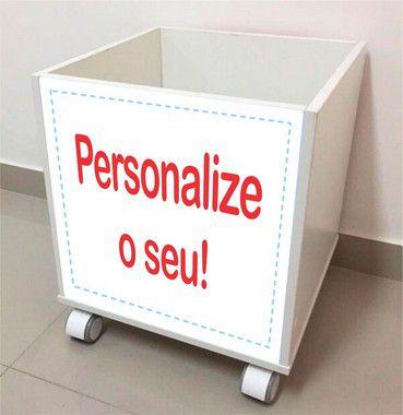 """Baú organizador com rodizio """"personalize seu tema"""""""