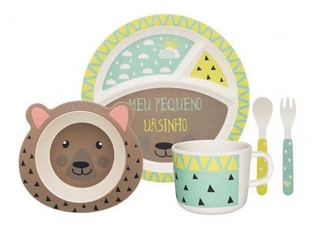Kit alimentação kids - urso (5 peças)