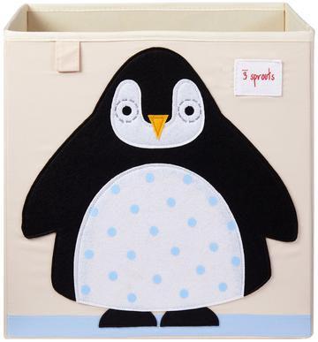 Cesto organizador infantil quadrado 3 sprouts modelos pinguim