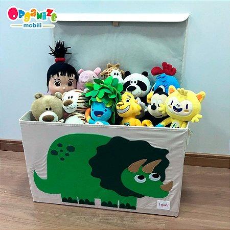 Baú organizador de brinquedos com tampa DINO - 3 Sprouts
