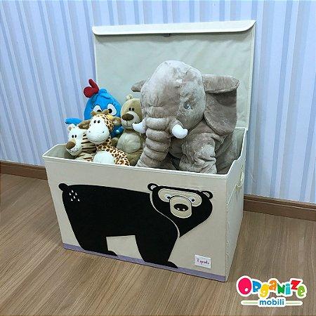 Baú organizador de brinquedos com tampa urso - 3 Sprouts