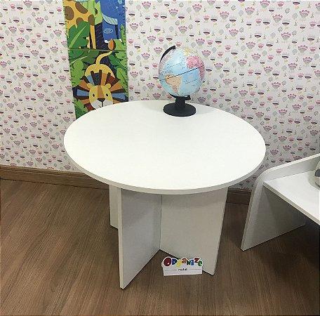 Mesa de atividades infantil redonda tampo branco