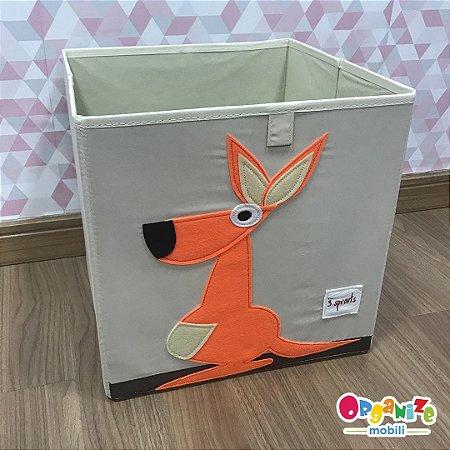 Cesto organizador infantil quadrado 3 sprouts modelo canguru