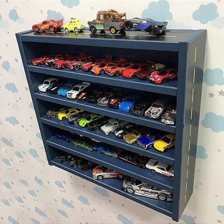 Organizador de carrinhos pequeno azul - Com tema