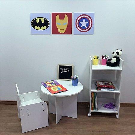 Quadro de decoração infantil (3 unidades) 30x30