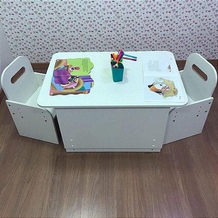 Mesa two kids com regulagem de altura + 2 cadeiras com regulagem de altura