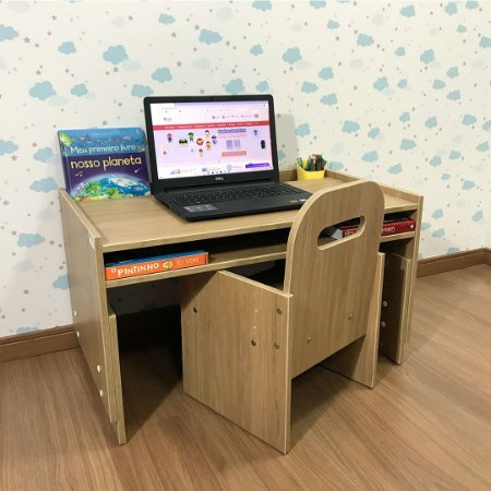 Office kids itapuã - Mesa (mari83 tampo itapuã) + Cadeira de regulagem (cari2)
