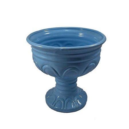 Vaso em Porcelana Azul Grande