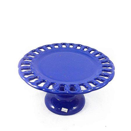 Sousplat para Doces de Porcelana Azul Royal